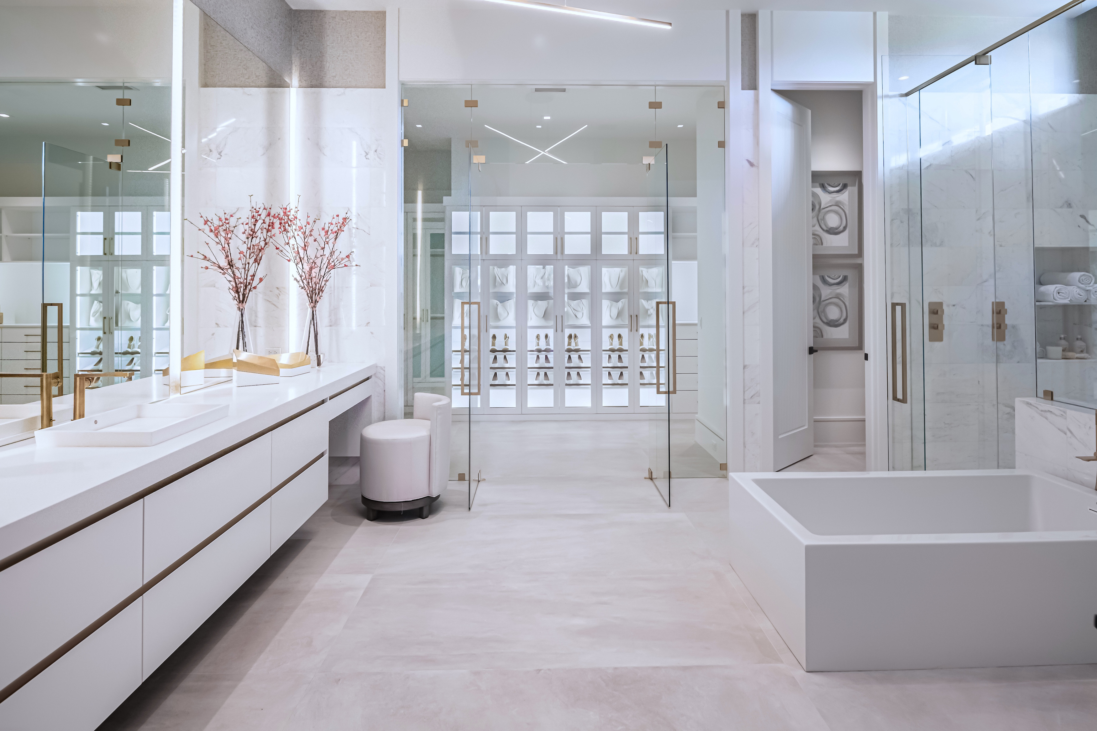 White Marble Custom Bathroom